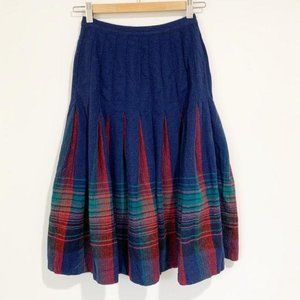 Vintage Pendleton Turnabout Plaid Skirt Size XS